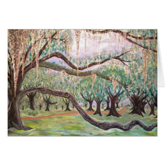 City Park Oak Trees Card