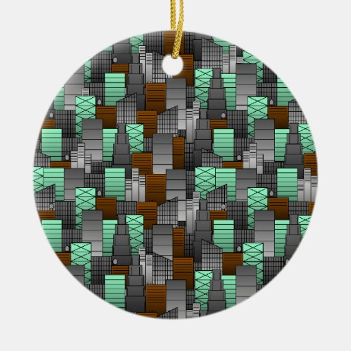 City Pattern Christmas Ornament