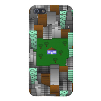 City Pattern with Little House iPhone 5 Cases
