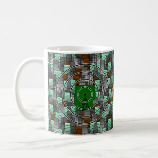 City Pattern with Radio Tower Classic White Coffee Mug