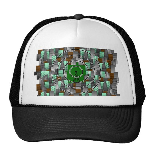 City Pattern with Radio Tower Trucker Hat