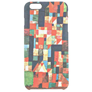City Picture with Red and Green Accents by Klee Clear iPhone 6 Plus Case