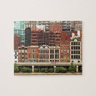 City - Pittsburg Pa - Fort Pitt Blvd Jigsaw Puzzle