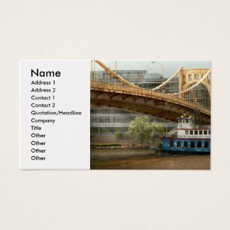 City - Pittsburg PA - Great memories Business Card