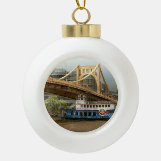 City - Pittsburg PA - Great memories Ceramic Ball Christmas Ornament