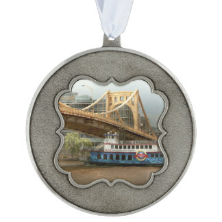 City - Pittsburg PA - Great memories Pewter Ornament