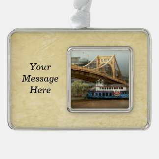 City - Pittsburg PA - Great memories Silver Plated Framed Ornament