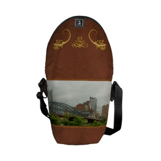 City - Pittsburg PA - The grand city of Pittsburg Courier Bag