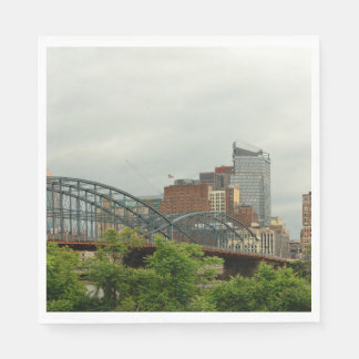 City - Pittsburg PA - The grand city of Pittsburg Napkin