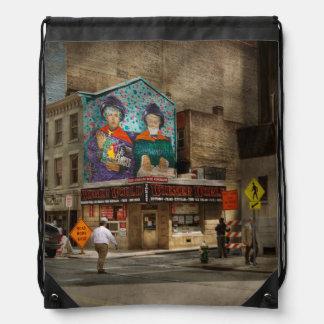 City - Pittsburg, PA - Wiener World Drawstring Bag