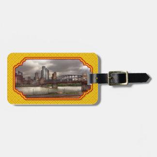 City - Pittsburgh, PA - Smithfield Bridge Bag Tag