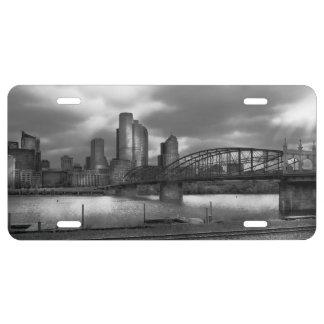 City - Pittsburgh, PA - Smithfield Bridge BW License Plate