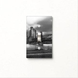 City - Pittsburgh, PA - Smithfield Bridge BW Light Switch Plates