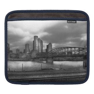 City - Pittsburgh, PA - Smithfield Bridge BW Sleeves For iPads