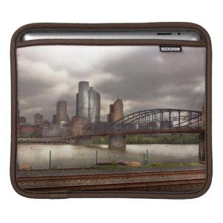 City - Pittsburgh, PA - Smithfield Bridge iPad Sleeves