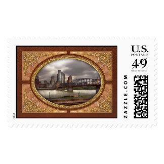 City - Pittsburgh, PA - Smithfield Bridge Stamps