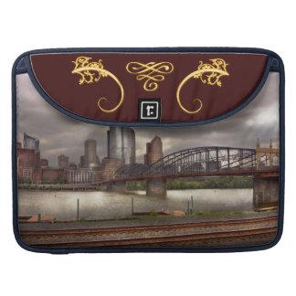 City - Pittsburgh, PA - Smithfield Bridge Sleeve For MacBooks