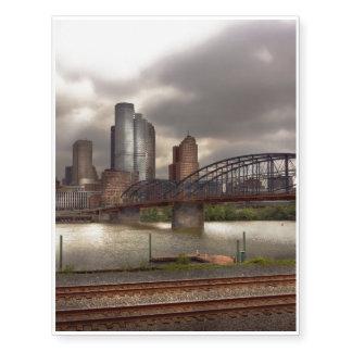 City - Pittsburgh, PA - Smithfield Bridge Temporary Tattoos