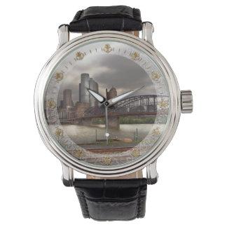 City - Pittsburgh, PA - Smithfield Bridge Wristwatch
