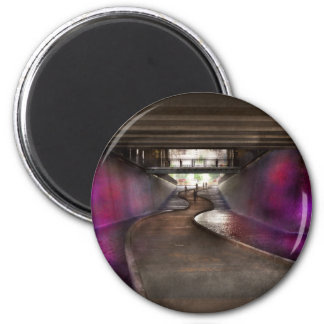 City - Pittsburgh, PA - Welcome to the future 2 Inch Round Magnet