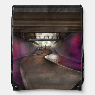 City - Pittsburgh, PA - Welcome to the future Drawstring Backpack