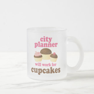 City Planner (Funny) Gift Frosted Glass Coffee Mug
