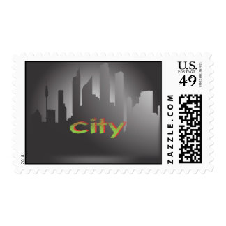 city postage stamps