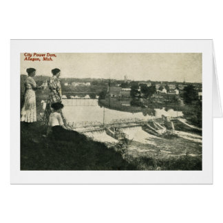 City Power Dam, Allegan, Michigan Card