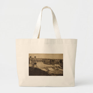 City Power Dam, Allegan, Michigan Large Tote Bag