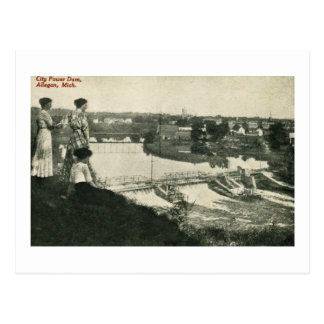 City Power Dam, Allegan, Michigan Postcard