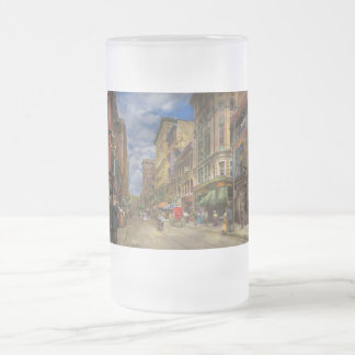 City - Providence RI - Living in the city 1906 Frosted Glass Beer Mug
