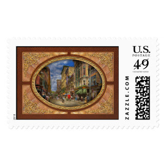 City - Providence RI - Living in the city 1906 Stamps