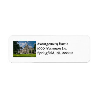 City - Providence RI - The capitol Custom Return Address Labels