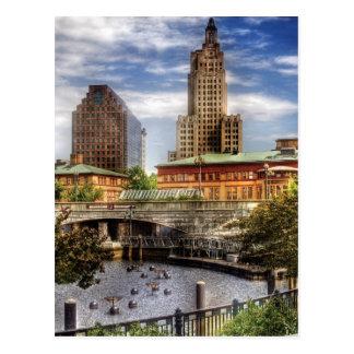 City - Providence RI - The Skyline Postcard