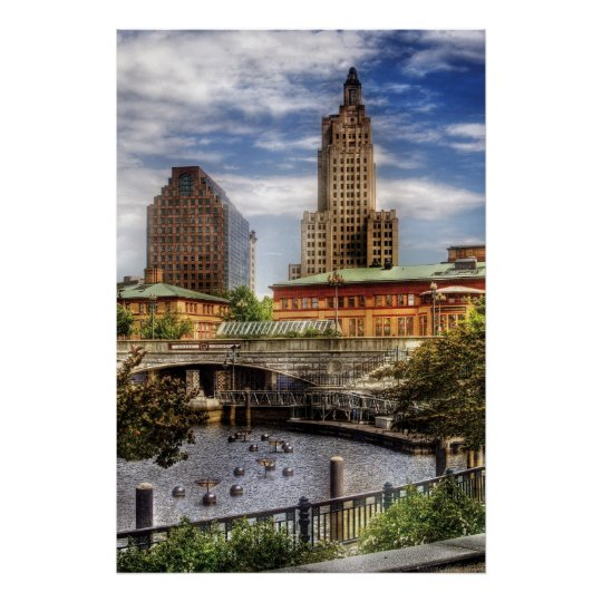 City - Providence RI - The Skyline Poster