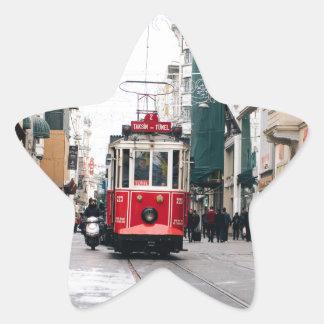 City Rail Car Star Sticker