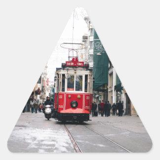 City Rail Car Triangle Sticker