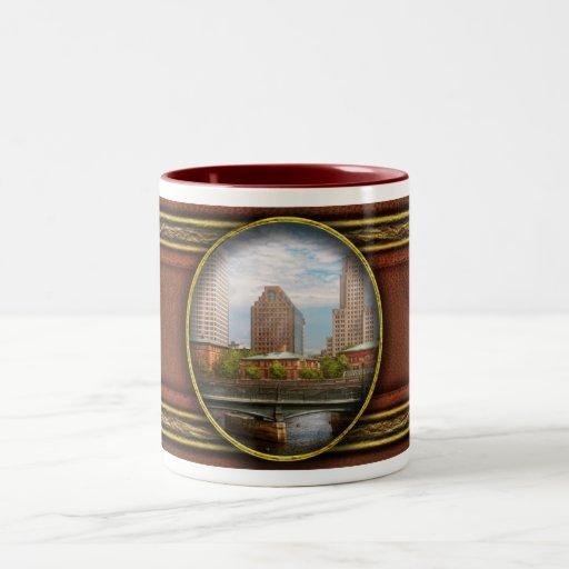 City - RI - Providence - The city of Providence Two-Tone Coffee Mug