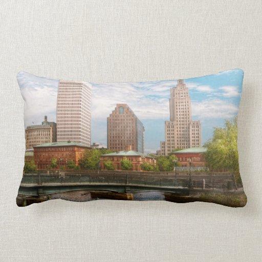 City - RI - Providence - The city of Providence Pillow