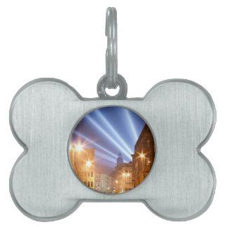 City Road Lamps Image Pet Name Tag