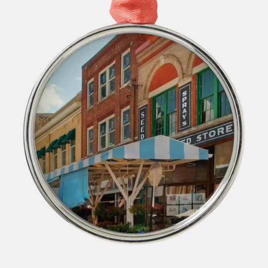 City - Roanoke, VA - The City Market Metal Ornament
