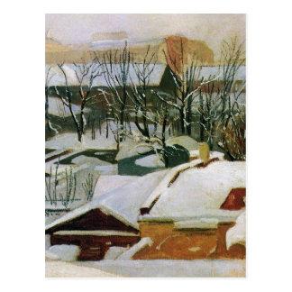 City roofs in winter by Ivan Shishkin Postcard