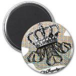 City Royalty Fleurdelis 2 Inch Round Magnet