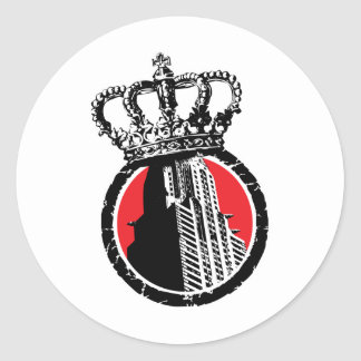 City Royalty Logo Classic Round Sticker