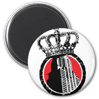 City Royalty Logo 2 Inch Round Magnet