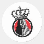 City Royalty Logo Round Stickers