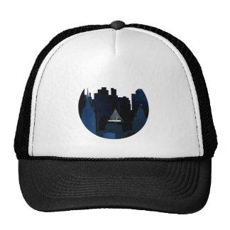 City Sailing at Night Trucker Hat