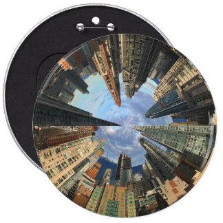 City Scape 6 Inch Round Button