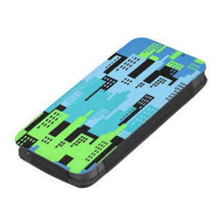 City Scape High Rise Buildings Abstract iPhone 5 Pouch