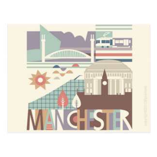 City Scape Manchester and the North West Postcard